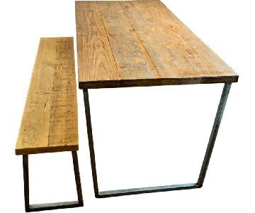 Reclaimed Wood Table w/ 1 Bench