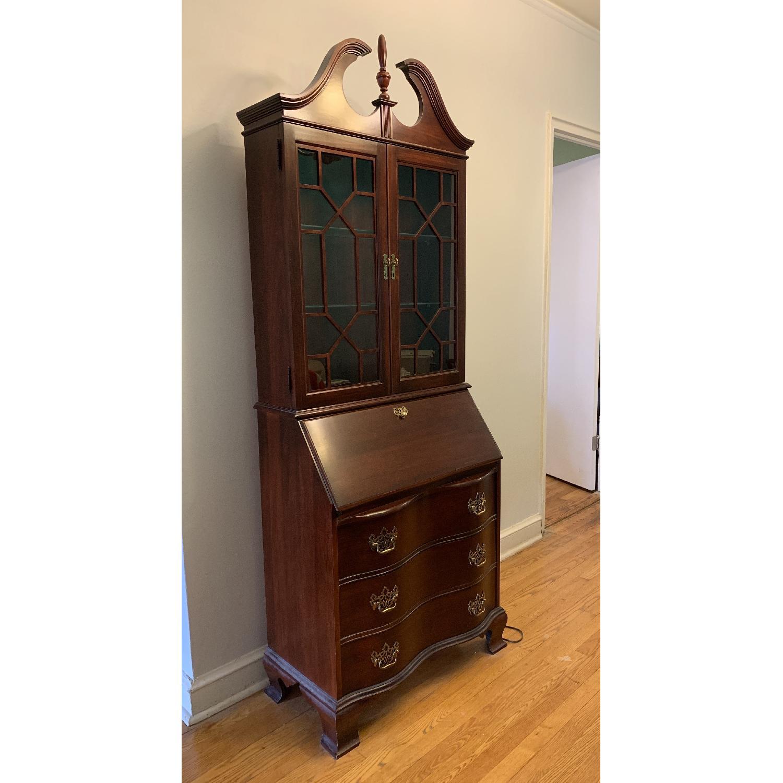 Antique Mahogany Secretary Desk - image-1