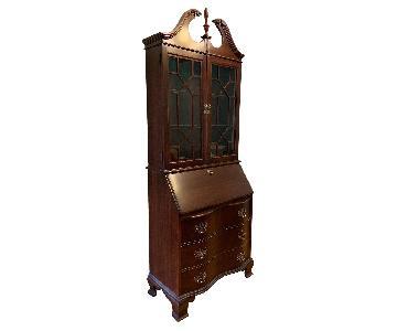 Jasper Cabinet Antique Mahogany Secretary Desk