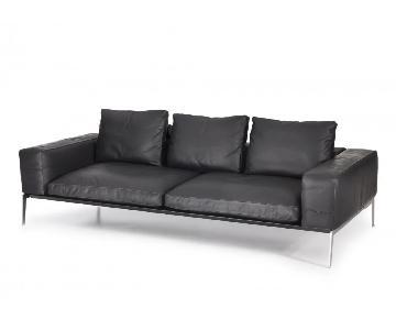 Flexform Lifesteel Sofa in Black Fabric