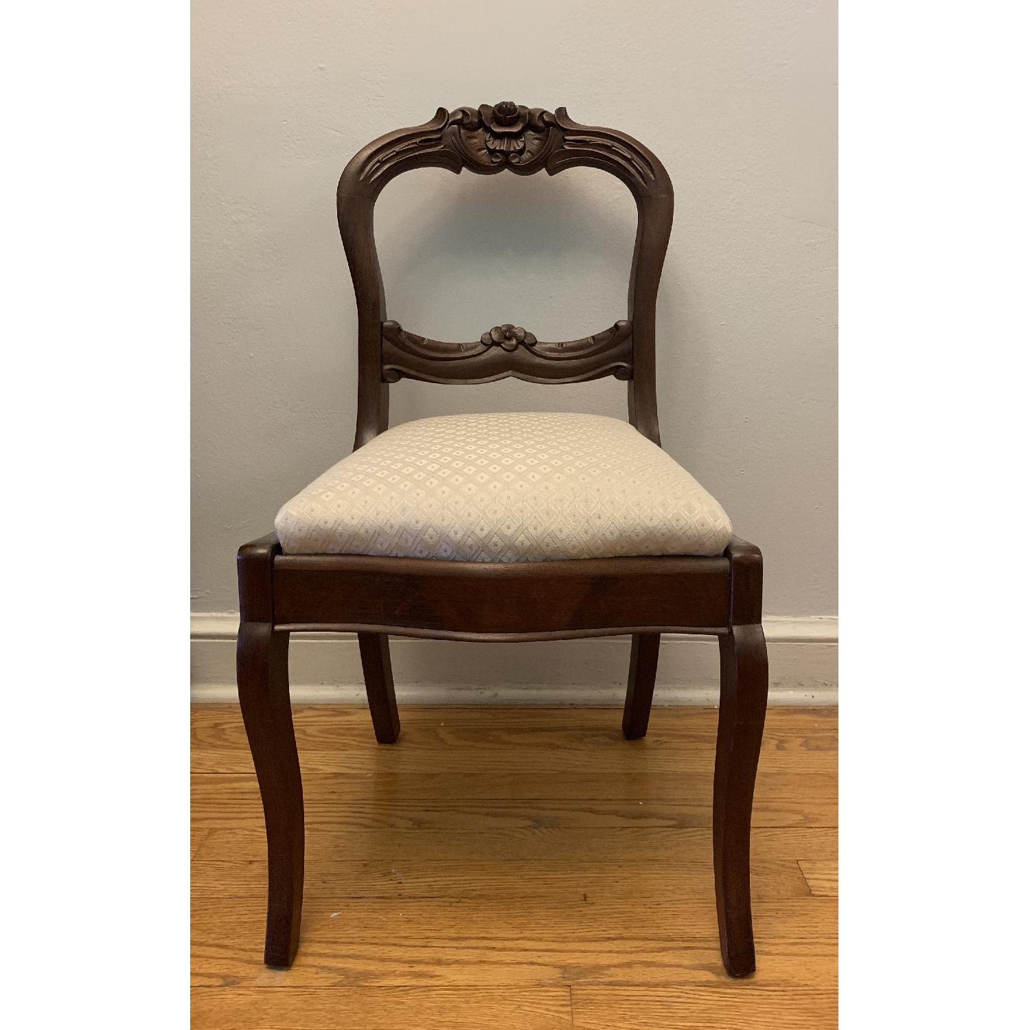 Vintage Cherry Upholstered Dining Chair - image-1