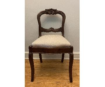 Vintage Cherry Upholstered Dining Chair