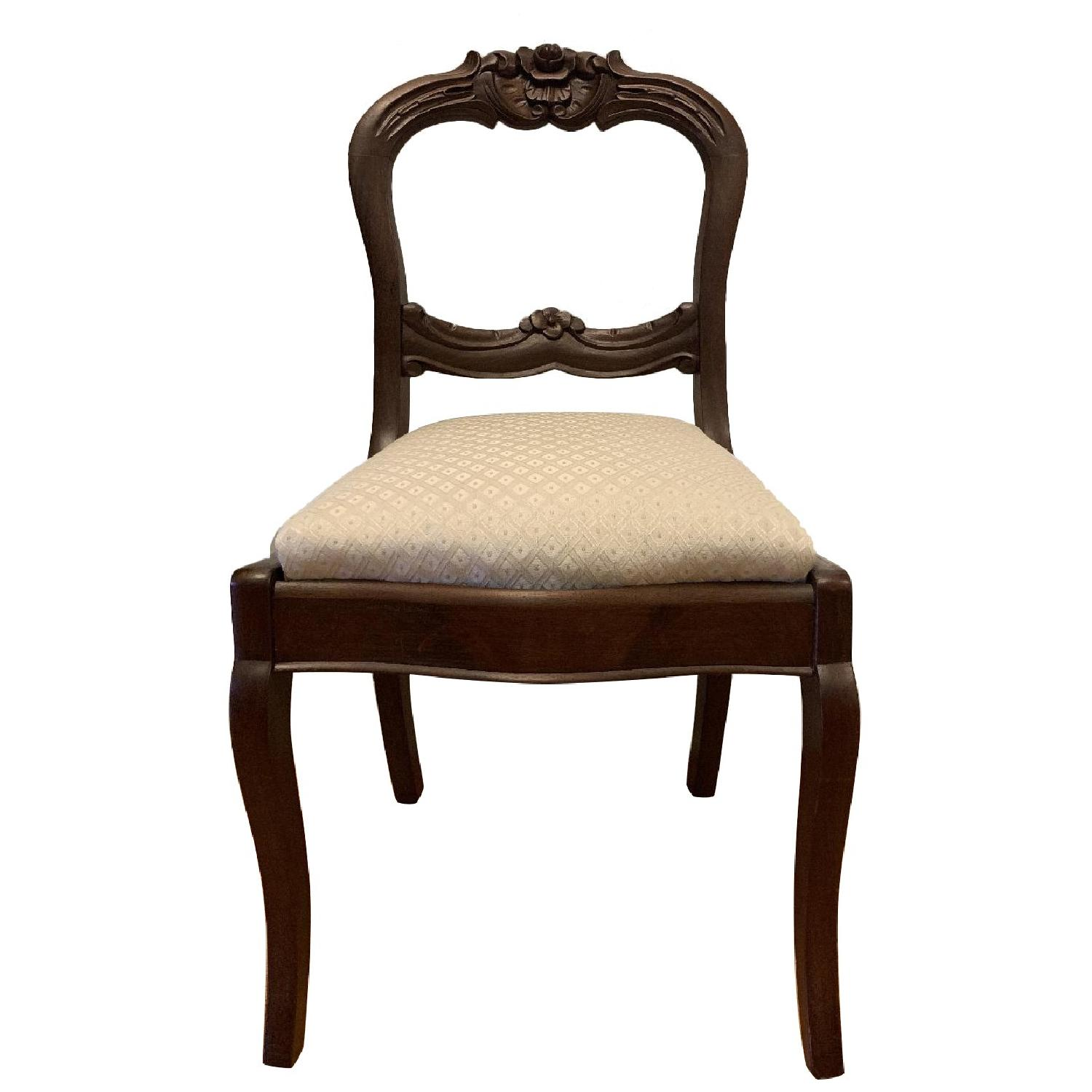 Vintage Cherry Upholstered Dining Chair - image-0