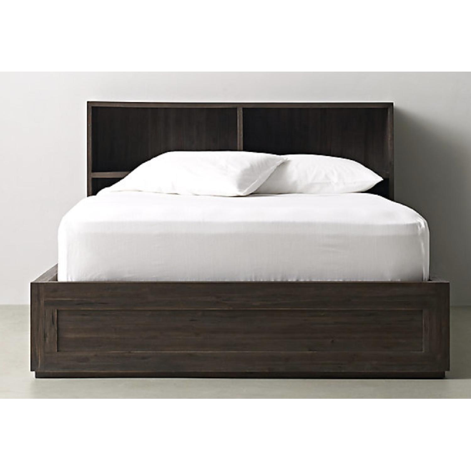 Restoration Hardware Keynes Storage Bed w/ Cubby Headboard-2
