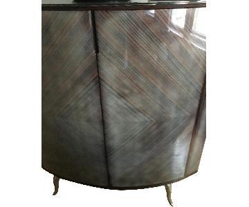Maurice Villency Furniture Zebra Wood Bar