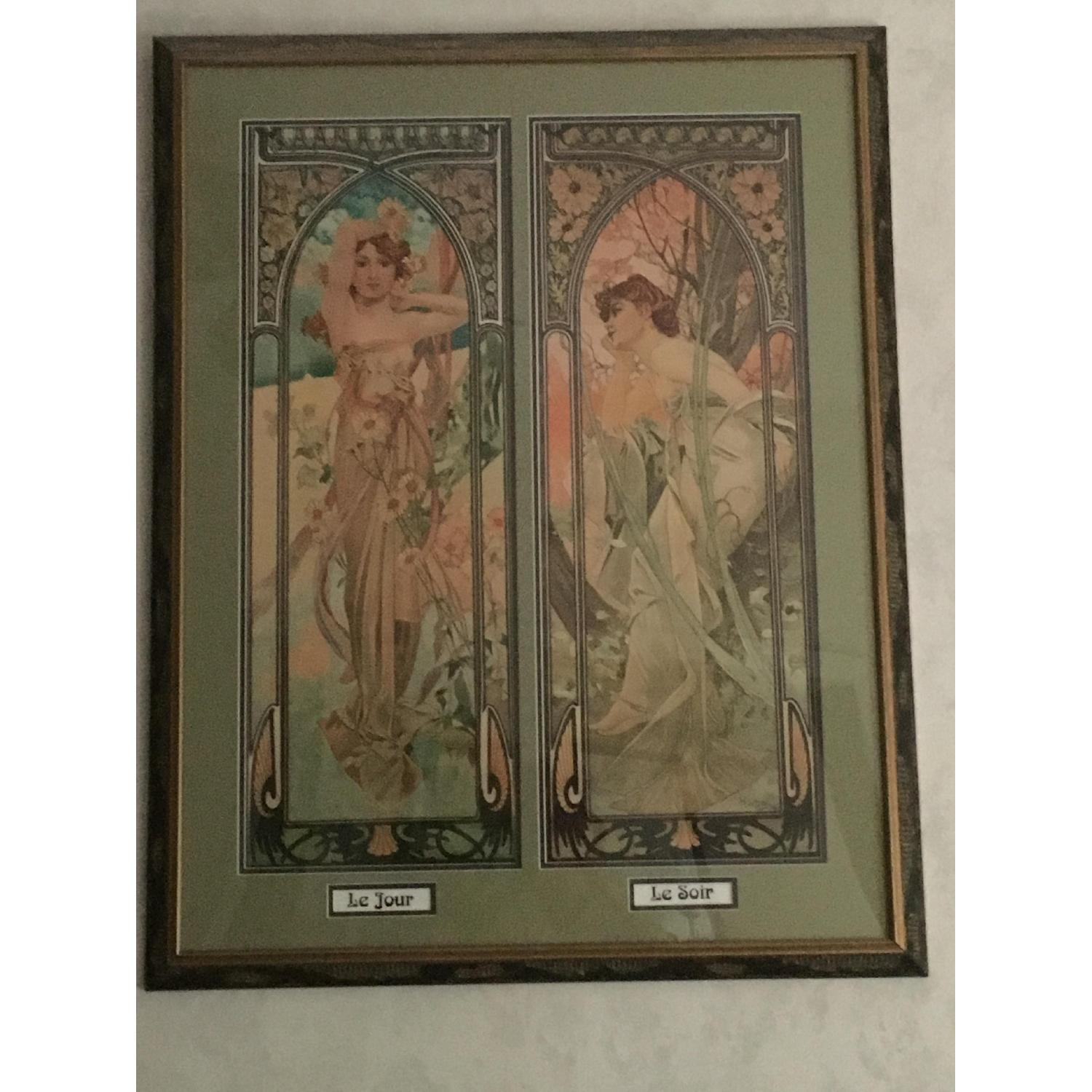 Art Nouveau Day/Night Framed Print - image-1