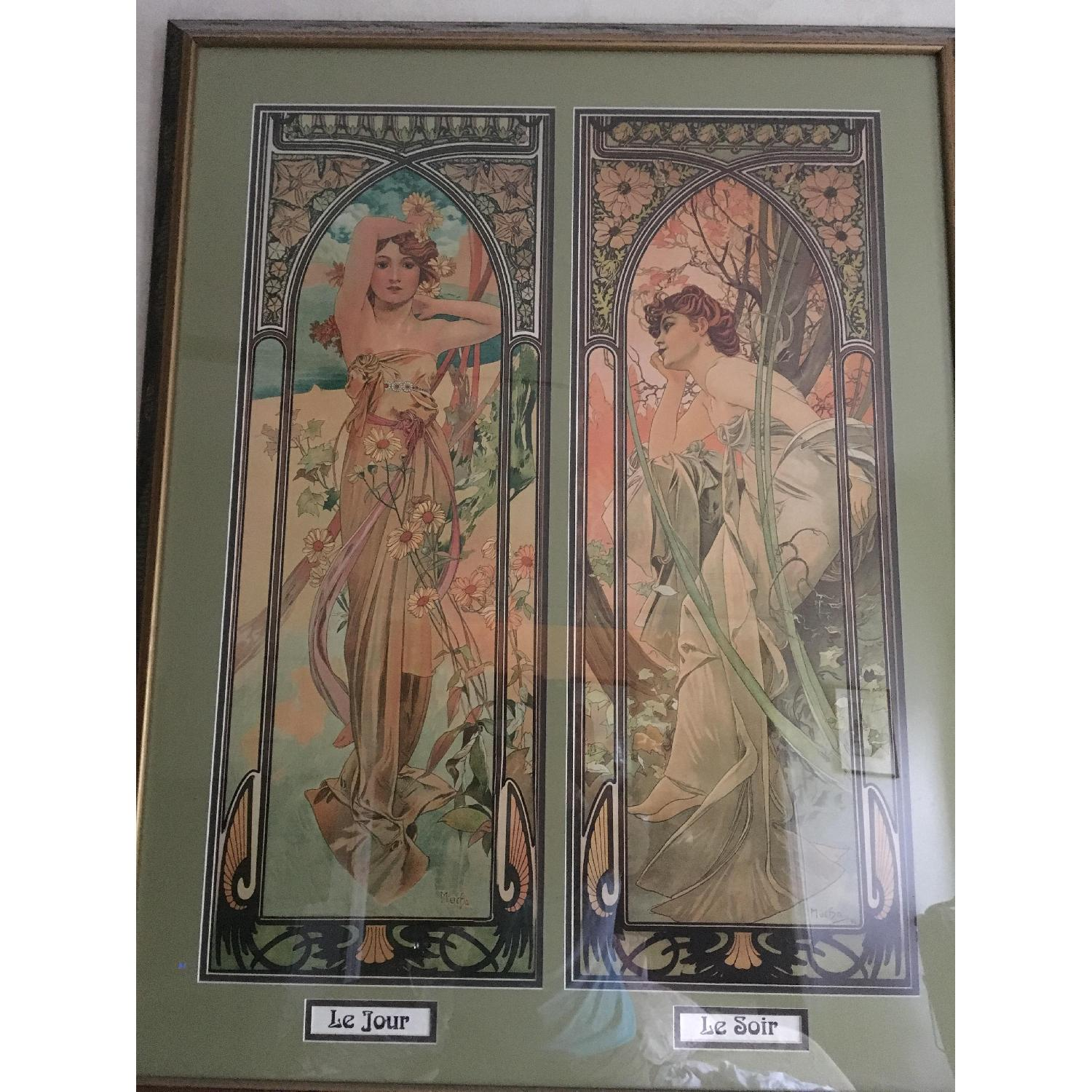 Art Nouveau Day/Night Framed Print - image-2
