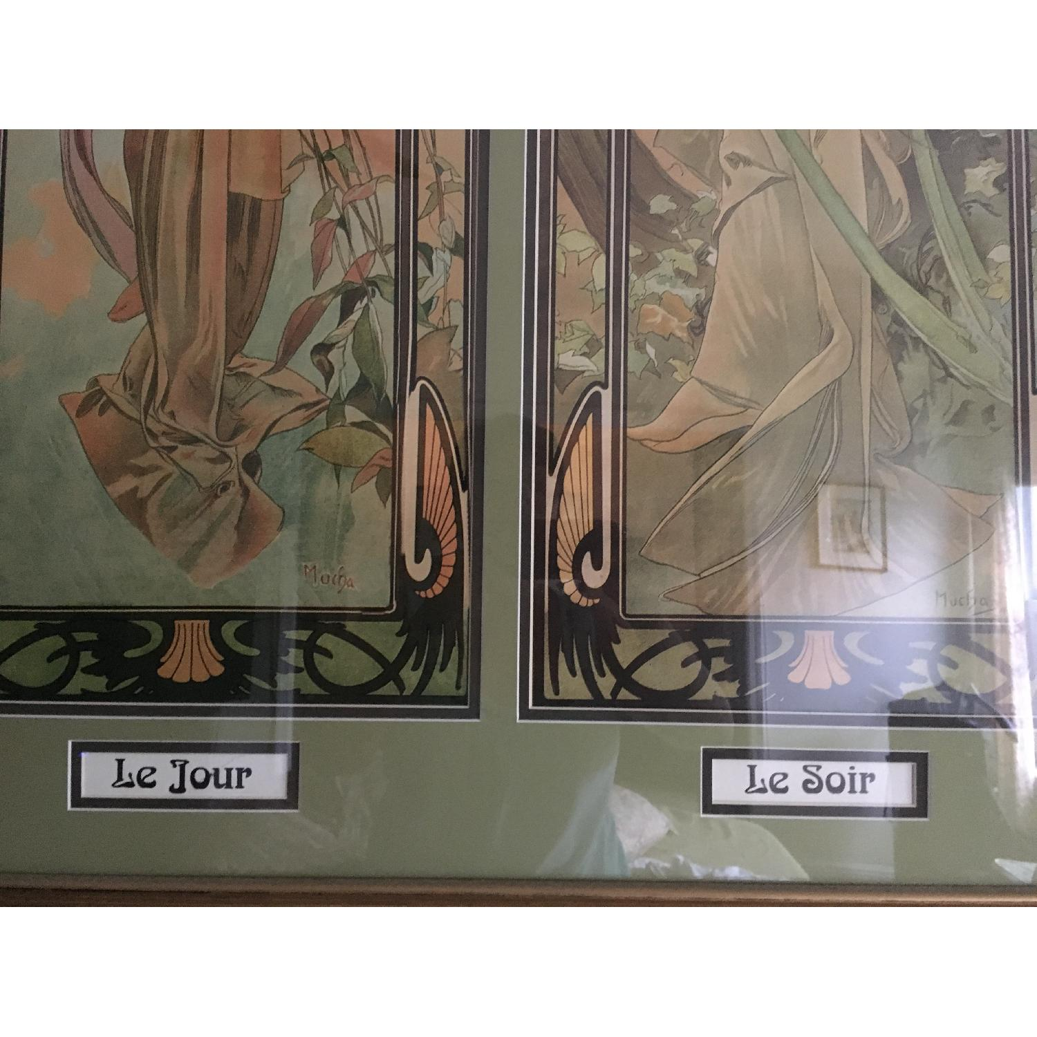 Art Nouveau Day/Night Framed Print - image-3