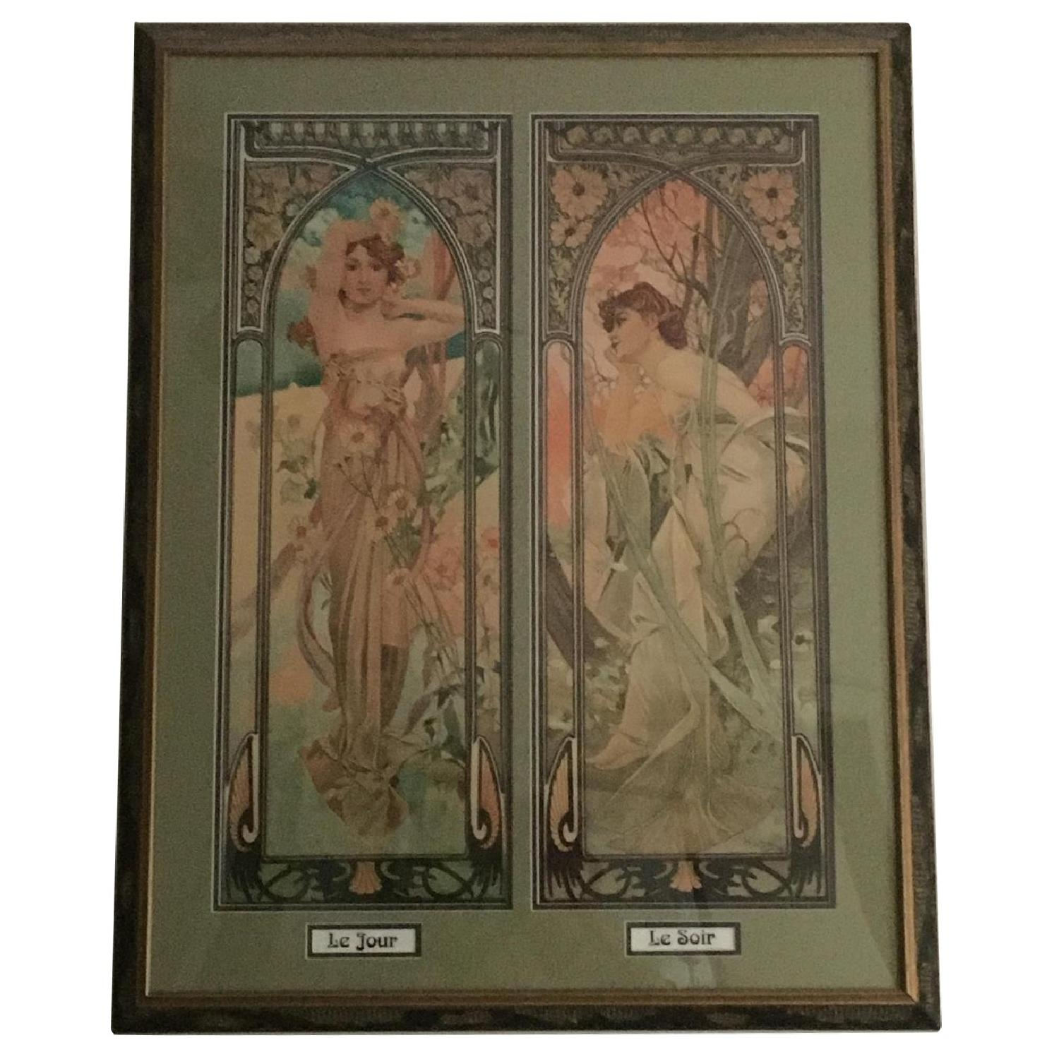 Art Nouveau Day/Night Framed Print - image-0