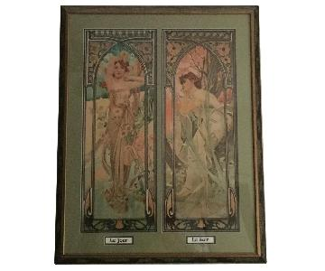 Art Nouveau Day/Night Framed Print