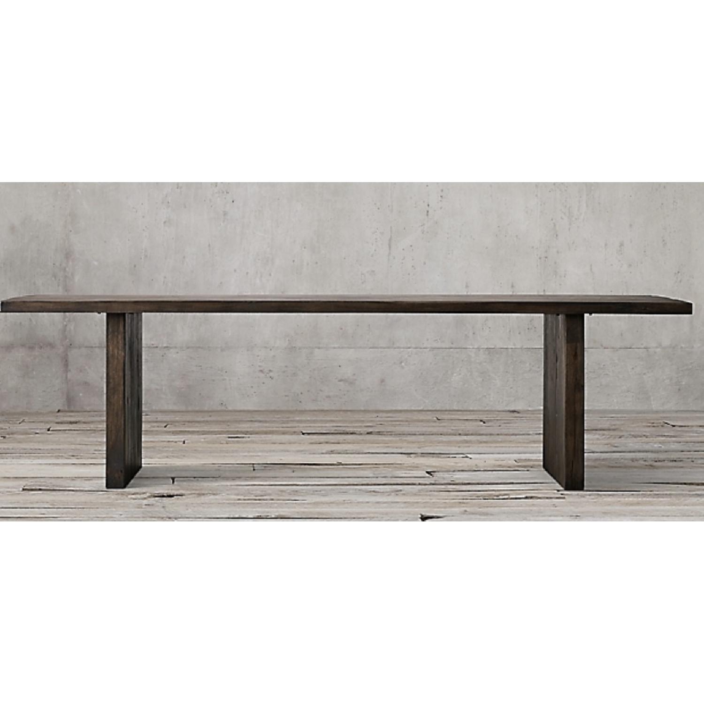 Restoration Hardware Reclaimed Oak Plank Dining Table - image-1
