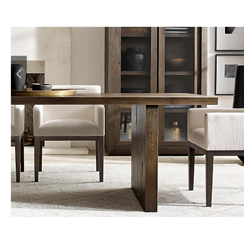 Restoration Hardware Reclaimed Oak Plank Dining Table - image-2
