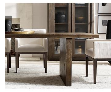 Restoration Hardware Reclaimed Oak Plank Dining Table