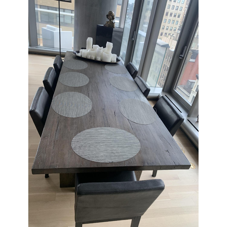 Restoration Hardware Reclaimed Oak Plank Dining Table - image-4