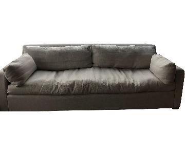 Restoration Hardware Belgian Track Arm Sofa in Belgium Linen