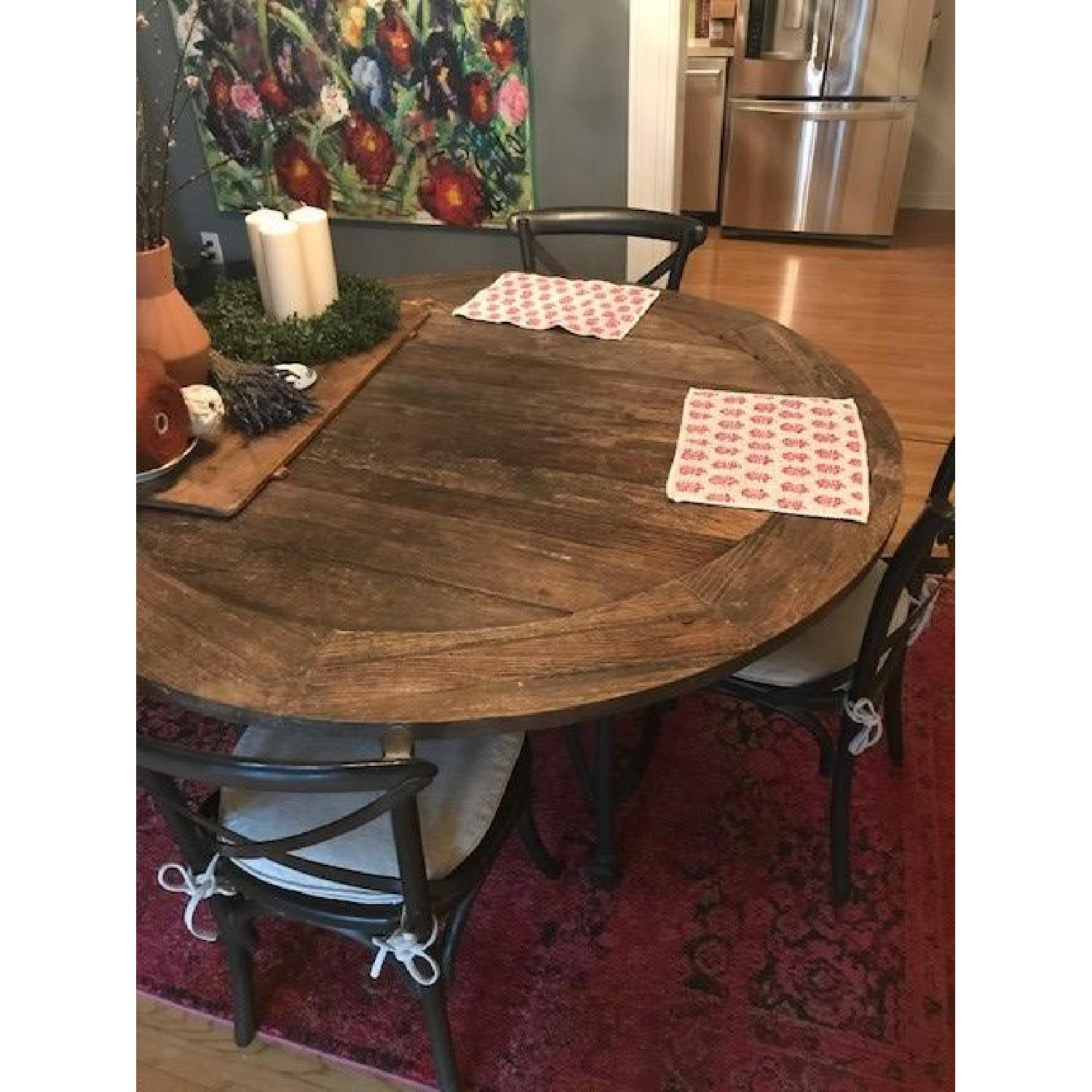Restoration Hardware Flatiron Dining Table w/ 6 Chairs - image-1