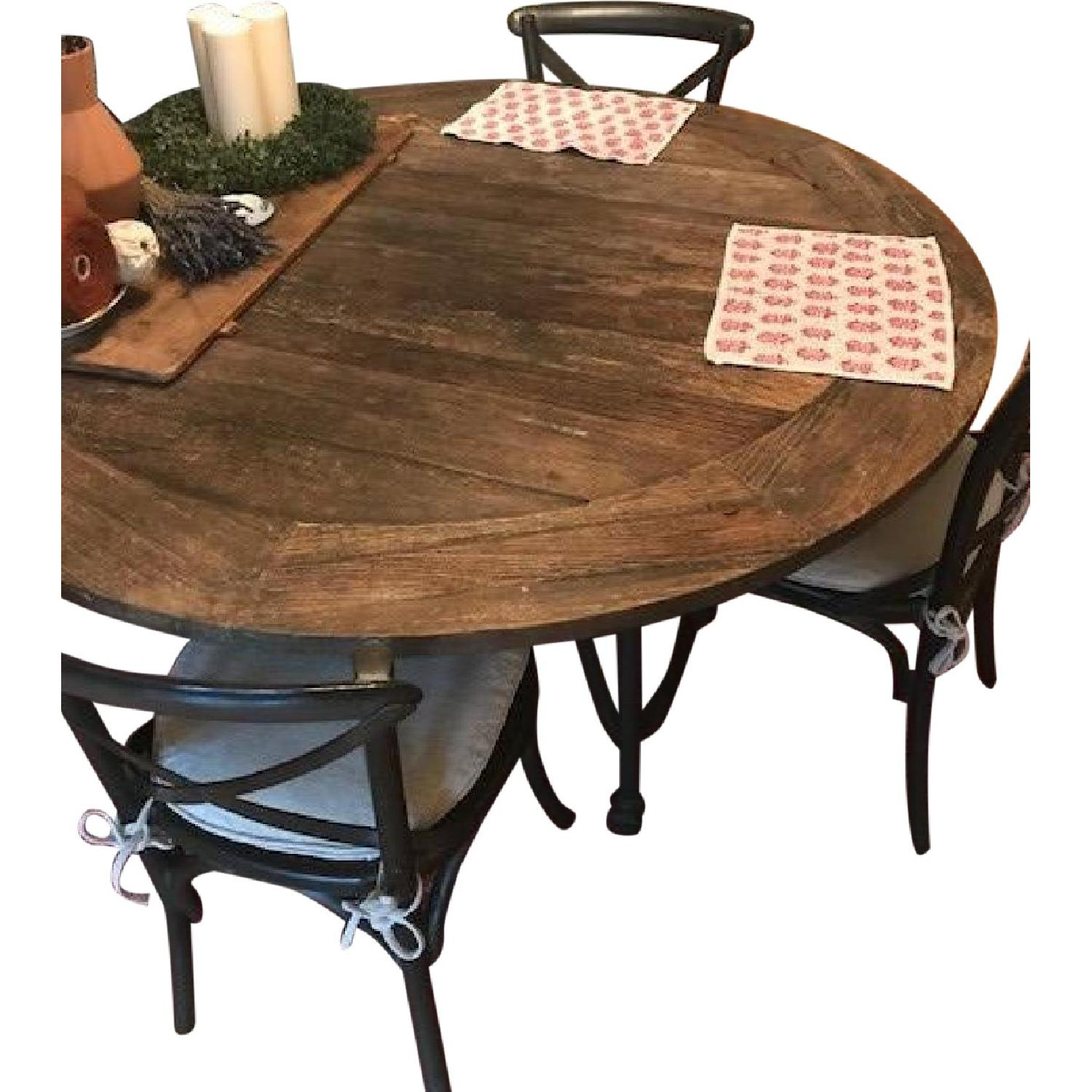 Restoration Hardware Flatiron Dining Table w/ 6 Chairs - image-0
