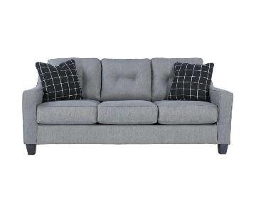 Ashley Grey Fabric Sofa