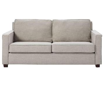 West Elm Gravel Twill Henry Sofa