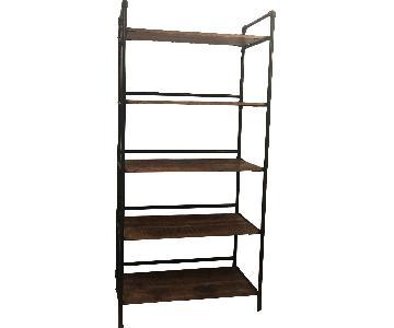 Nadeau Furniture Metal & Wood Bookcase