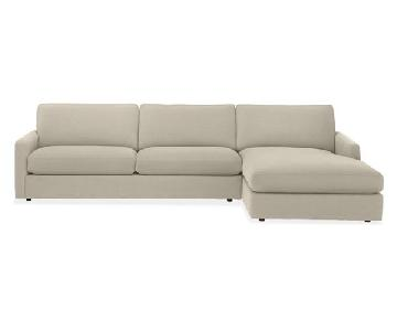 Room & Board Easton Right Chaise Sectional Sofa