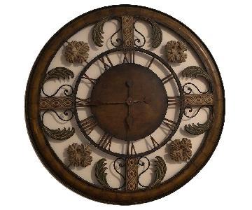 Oversized Roman No. Wall Clock