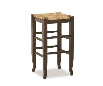 Pottery Barn Brown Counter Stools