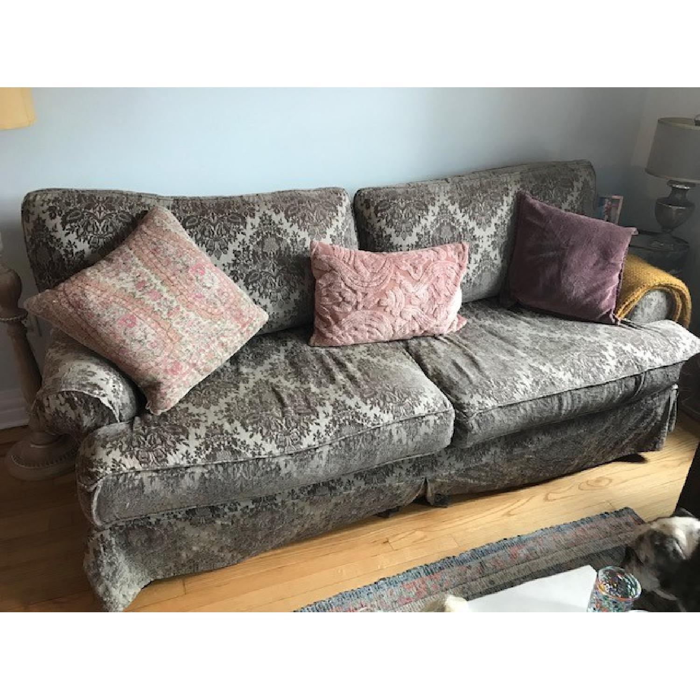 Shabby Chic Slipcover Comfy Sofa w/ Custom Down Cushions - image-1