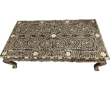 ABC Carpet and Home Mother of Pearl Inlay Coffee Table