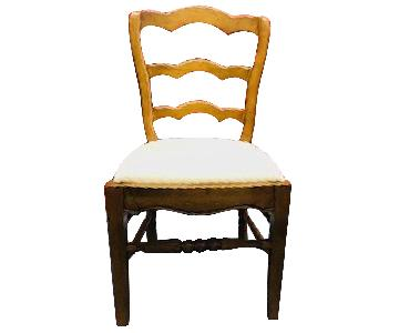 Ralph Lauren Upholstered Wood Dining Chairs