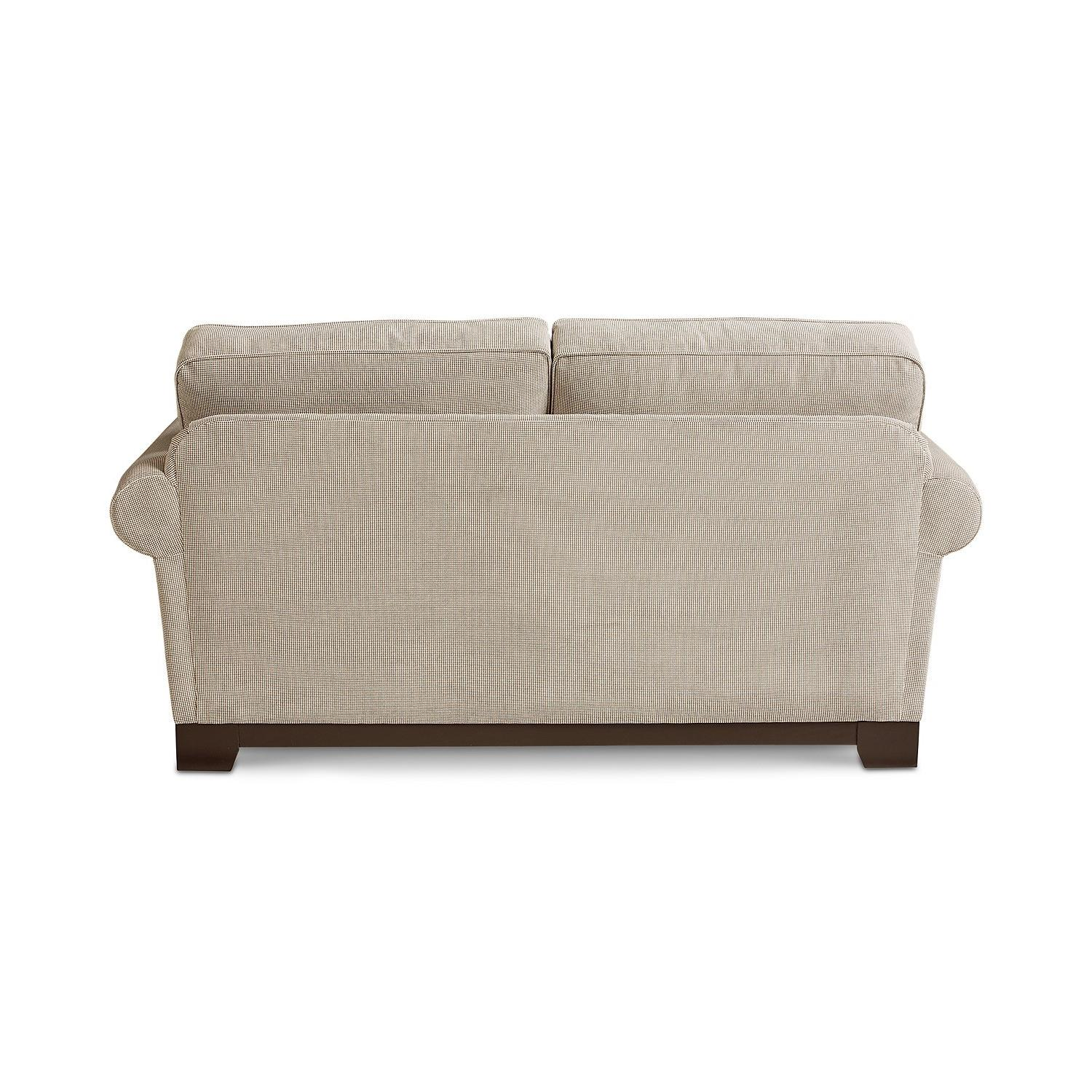 Macy's Medland Fabric Roll Arm Loveseat w/ 2 Pillows - image-3