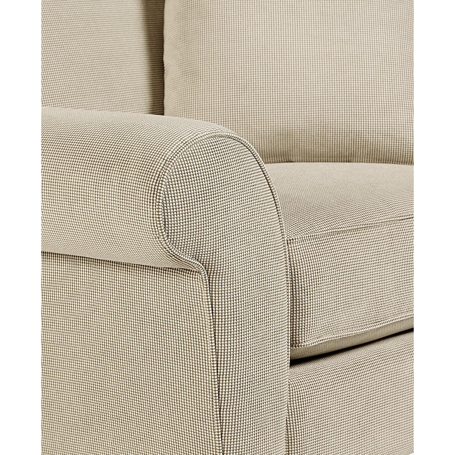 Macy's Medland Fabric Roll Arm Loveseat w/ 2 Pillows - image-4