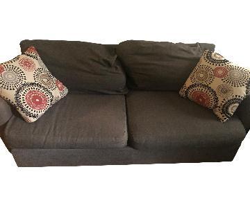 Raymour and Flanigan Grey Sofa