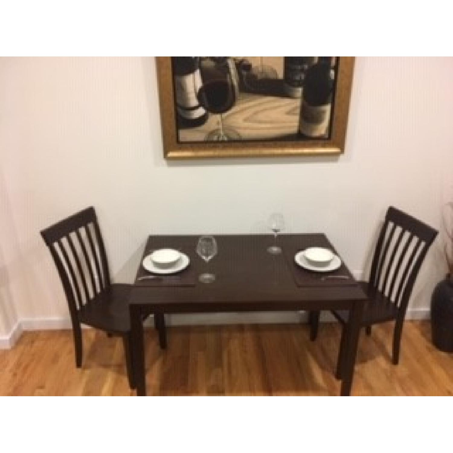 Value City Furniture Espresso Dining Table w/ 2 Chairs - AptDeco