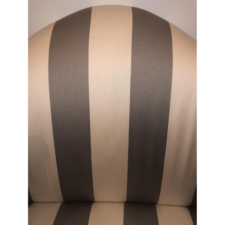 Ethan Allen Hepburn Sofa in Blossom Oyster Grey/White Stripe - image-6
