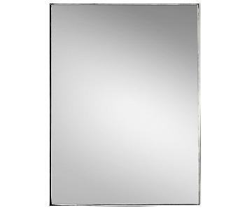 Restoration Hardware Metal Floating Mirror in Nickel Finish