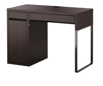 Ikea Malm Office Desk in Black-Brown