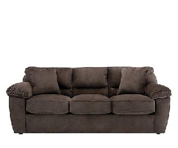 Raymour & Flanigan Rockport Microfiber Sleeper Sofa