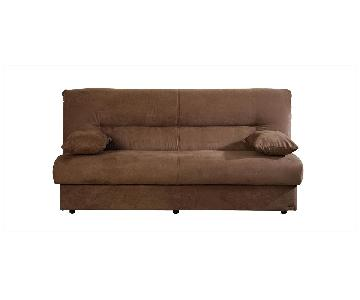Istikbal Convertible Storage Sofa Bed in Light Brown