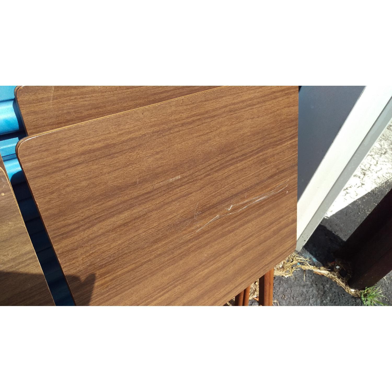 Artex Butlerette 5 Piece Wood Folding TV Snack Tray Set - image-2