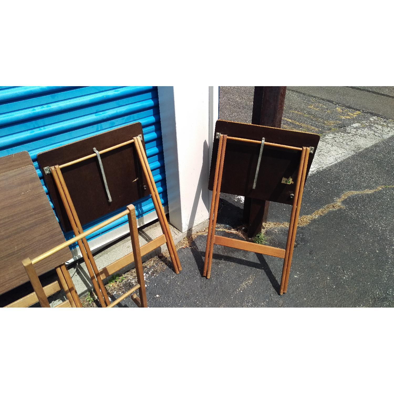 Artex Butlerette 5 Piece Wood Folding TV Snack Tray Set - image-5