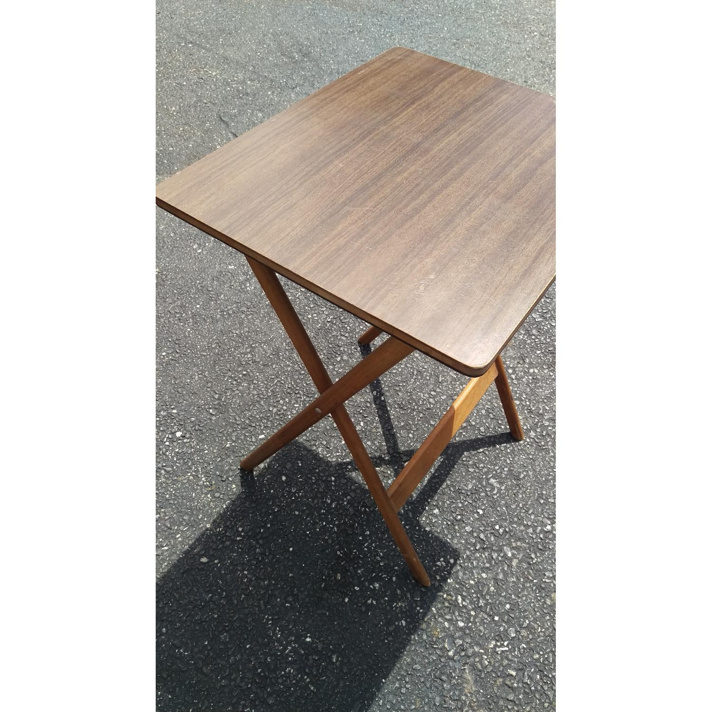 Artex Butlerette 5 Piece Wood Folding TV Snack Tray Set - image-7