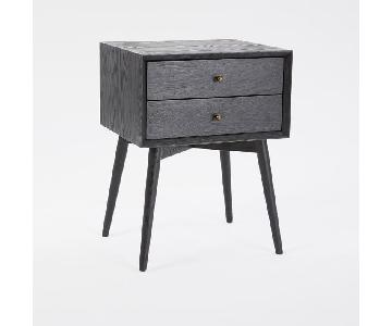 West Elm Mid-Century Nightstand in Black