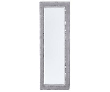 West Elm Suede Studded Floor Mirror