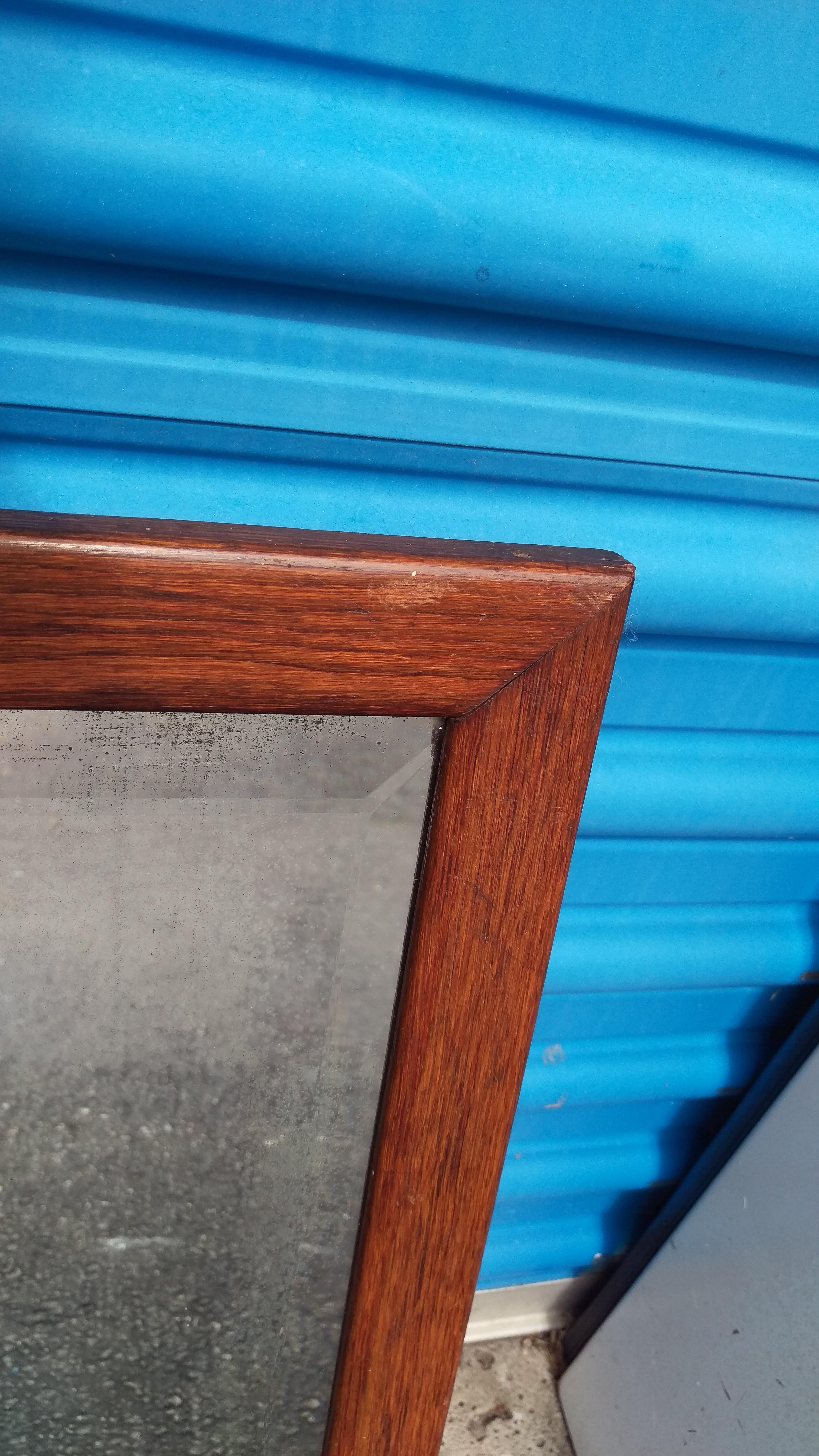 Small Oak Wood Frame Wall Mirror