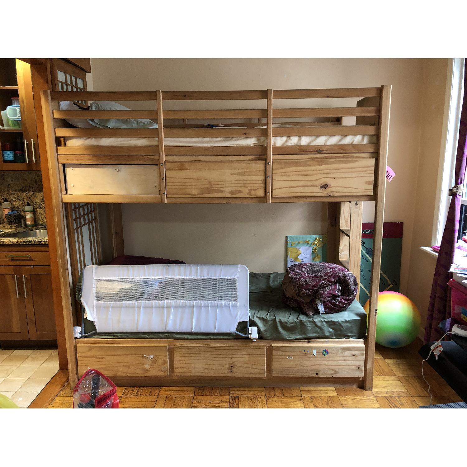 Gothic Cabinet Craft Twin Bunk Bed in Natural Pine Wood-0