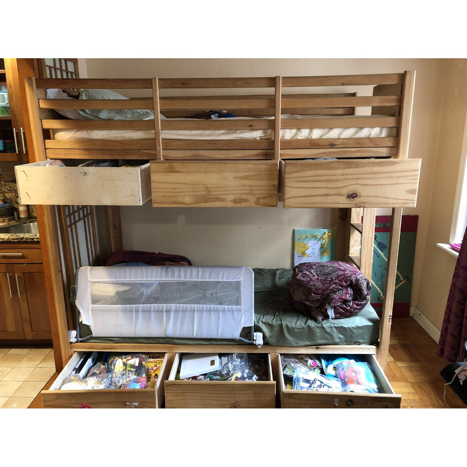 Gothic Cabinet Craft Twin Bunk Bed in Natural Pine Wood-2