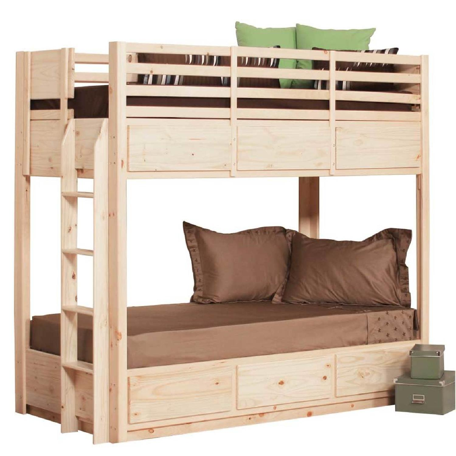 Gothic Cabinet Craft Twin Bunk Bed in Natural Pine Wood-3
