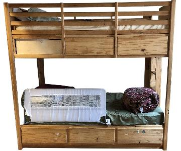 Gothic Cabinet Craft Twin Bunk Bed in Natural Pine Wood