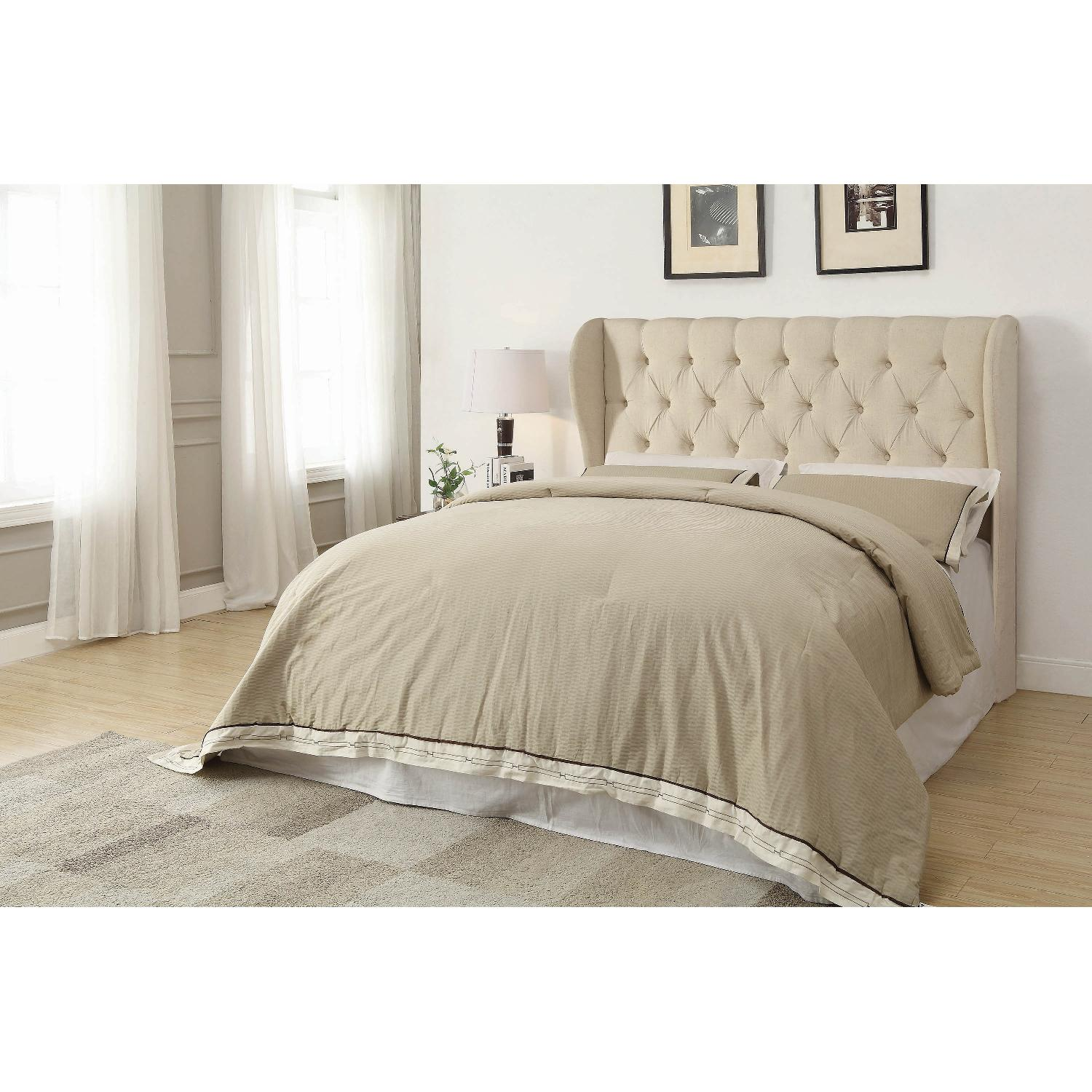 Coaster Murietta Beige Upholstered King Headboard - image-1